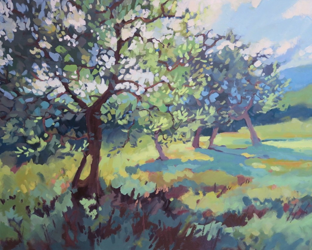 Painting of the Olive Grove, 3 Olive trees in Italy